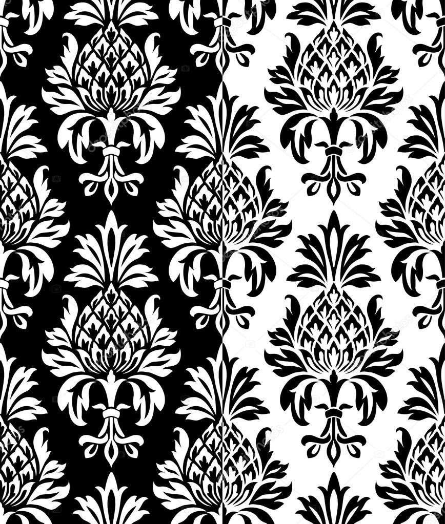 mod le vintage ananas baroque sur le fond noir et blanc image vectorielle annapre 35469671. Black Bedroom Furniture Sets. Home Design Ideas