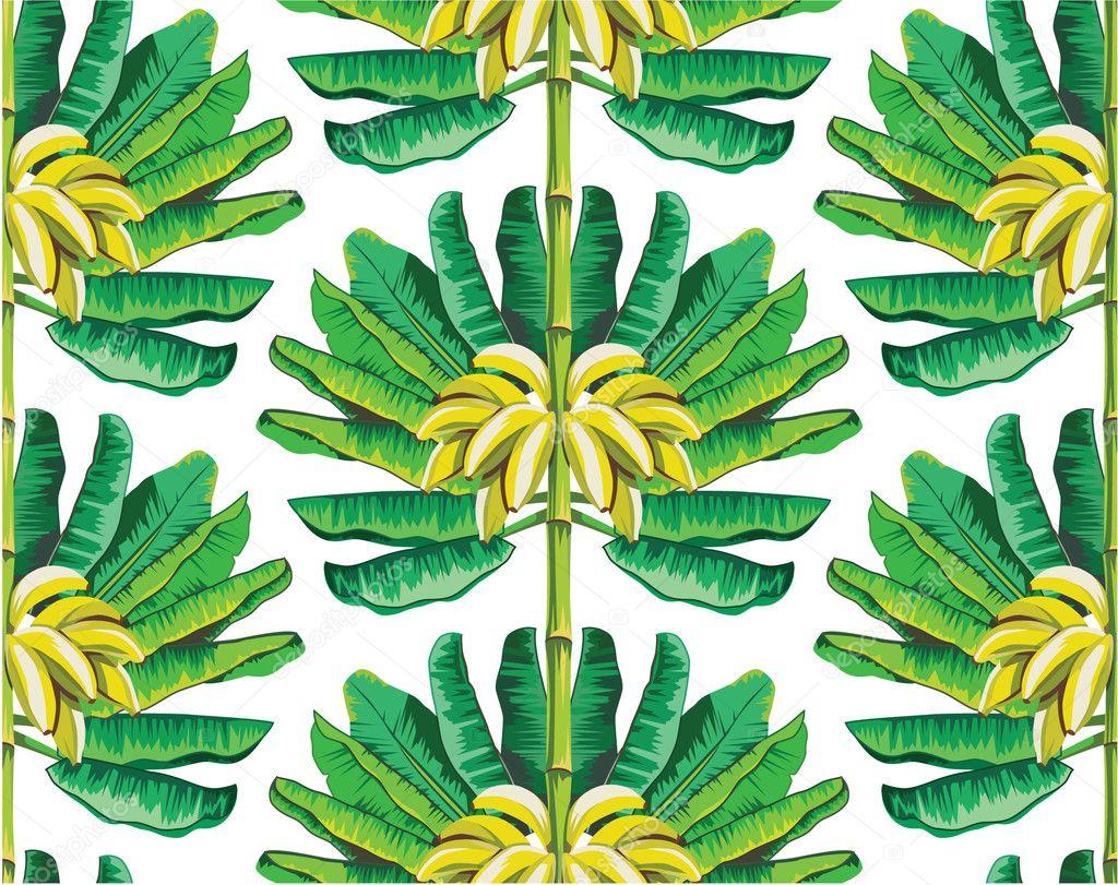 Banana tree pattern