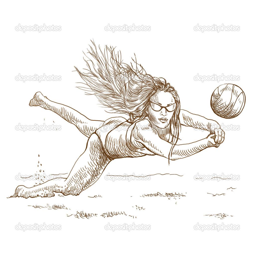 jugador de voleibol de playa — Fotos de Stock © kuco #18377093