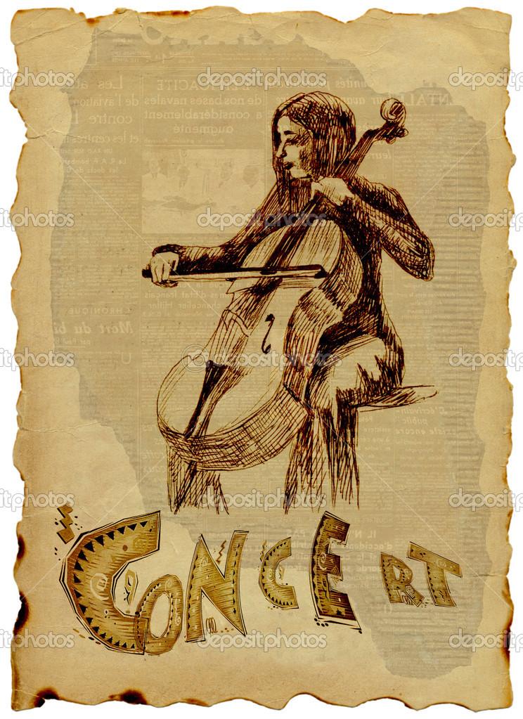 Violoncellista Stock Fotografie C Kuco 22419625