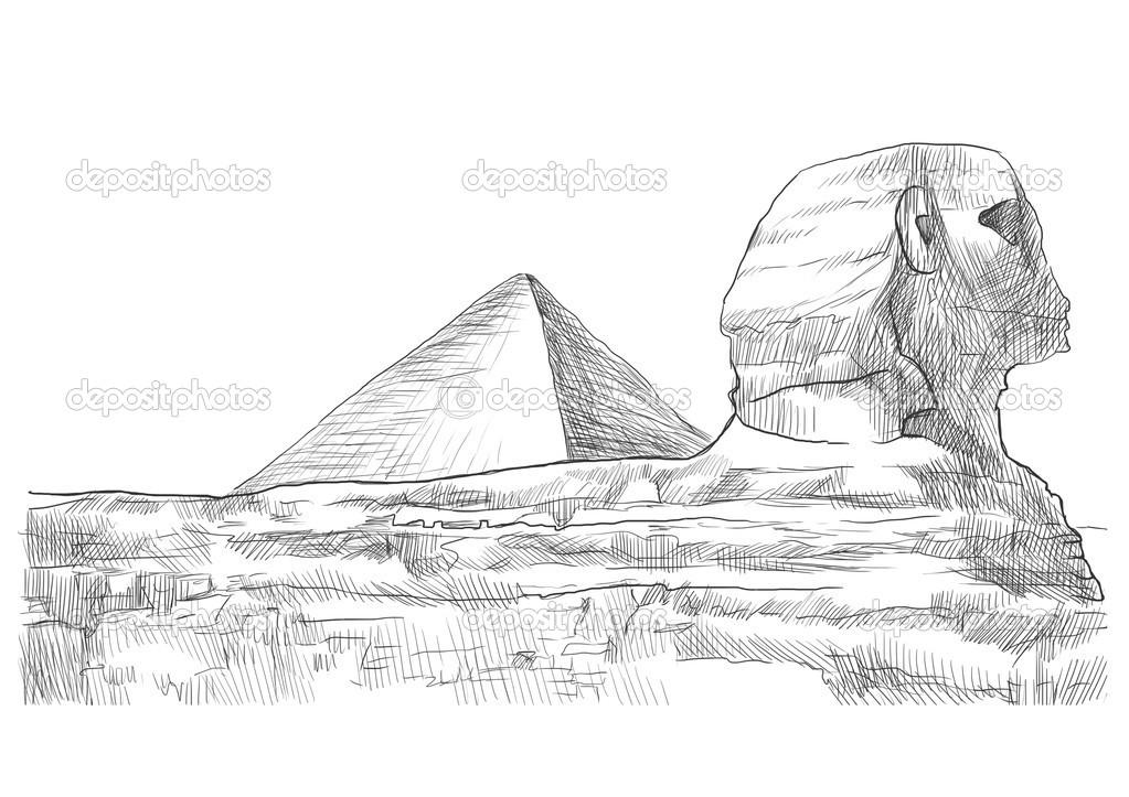 Esfinge y la pirámide — Foto de stock © kuco #23584933