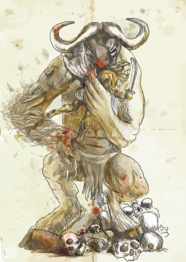 Minotaur and Theseus