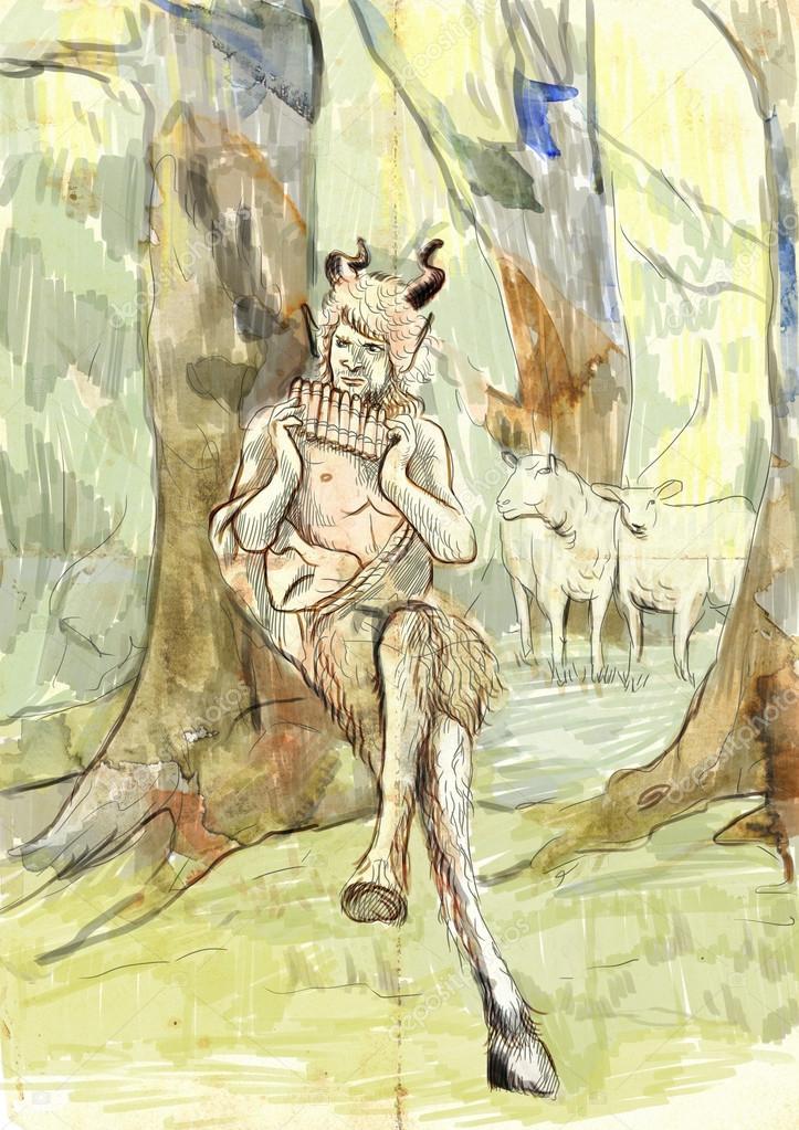 Pan Le Dieu De La Mythologie Grecque Photographie Kuco