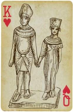 Pharaoh with his wife
