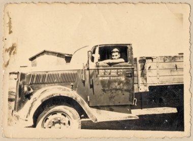 """Картина, постер, плакат, фотообои """"грузовик"""", артикул 27008695"""