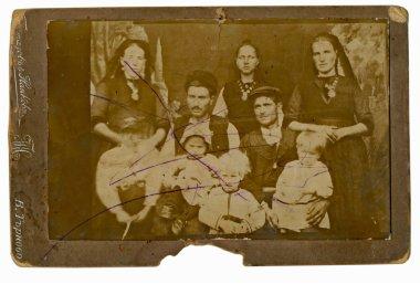 "Картина, постер, плакат, фотообои ""семья, муж, жена и дети "", артикул 27937897"