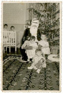 Santa Claus (Grandpa Frost) in the Nursery