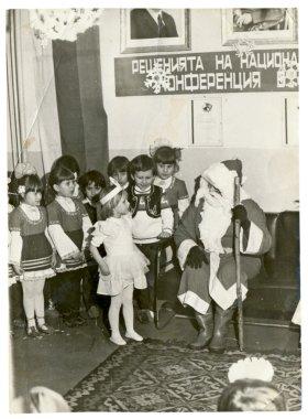 In kindergarten, Santa Claus