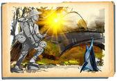 pescatore (pittura digitale)