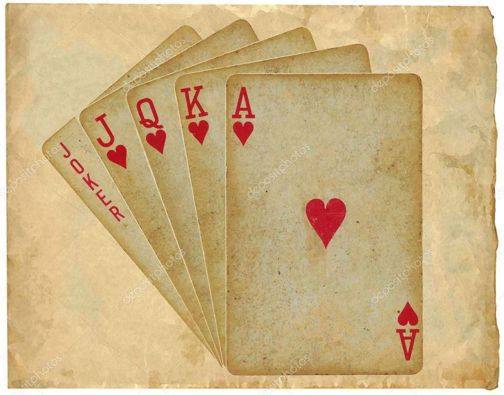 playing cards - straight - on paper