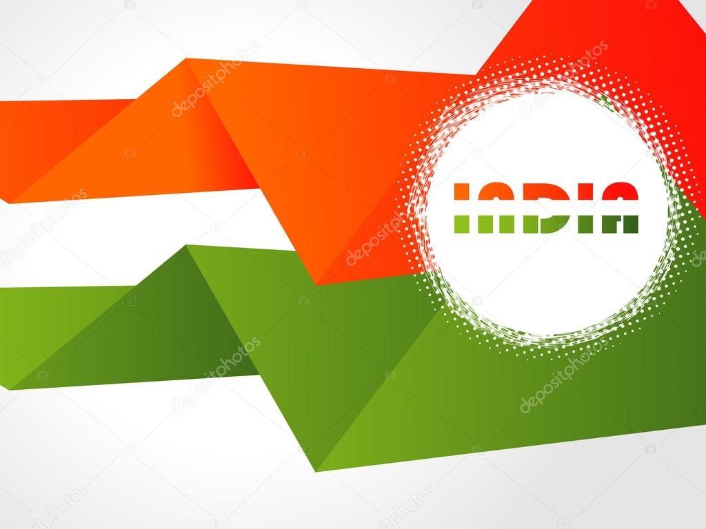 Creative Indian flag color background with wave for Independence Day and Republic Day
