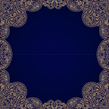 Vector floral arabesque seamless background