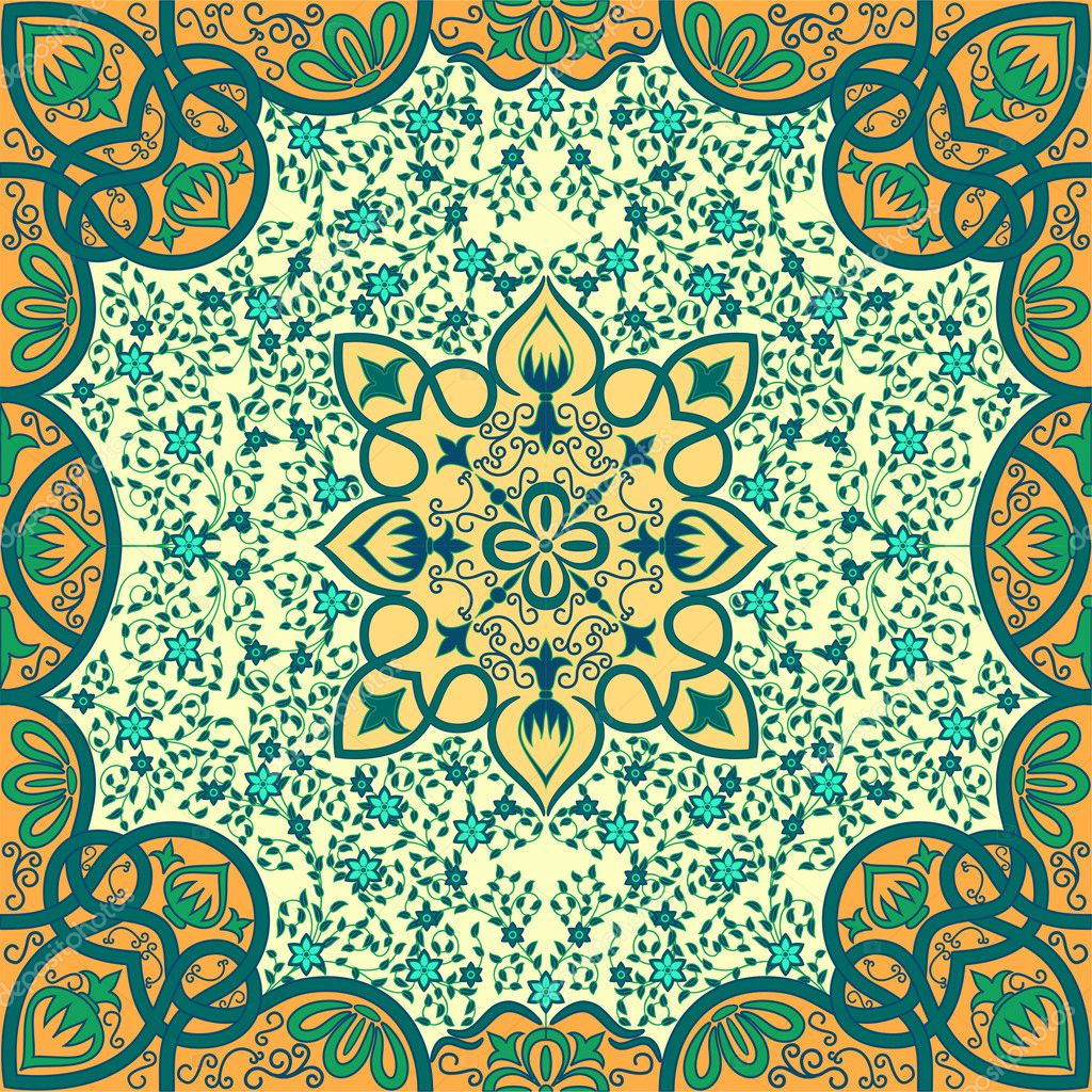 Vector floral arabesque ornament