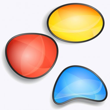 Set of colorful vector glossy buttons