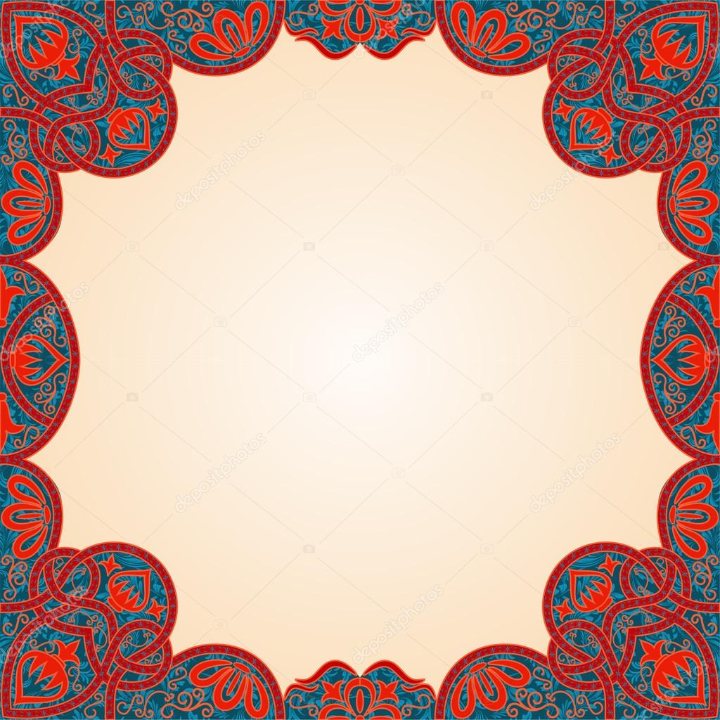 Vector floral arabesque seamless background