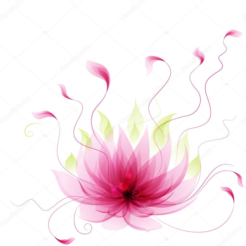 Abstract vector pink lotus flower