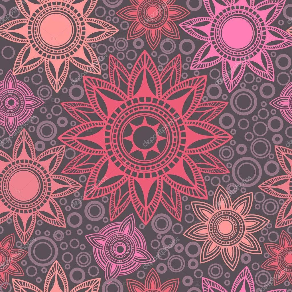 Abstract seamless pattern with round elements