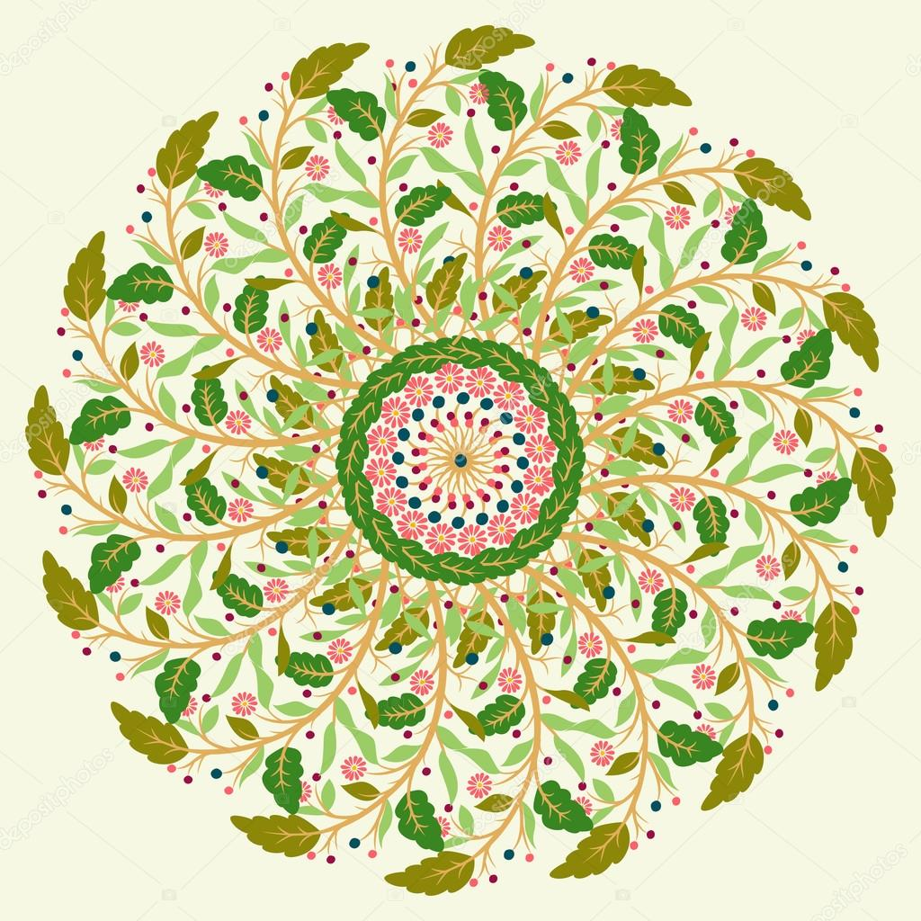 Ornamental round pattern