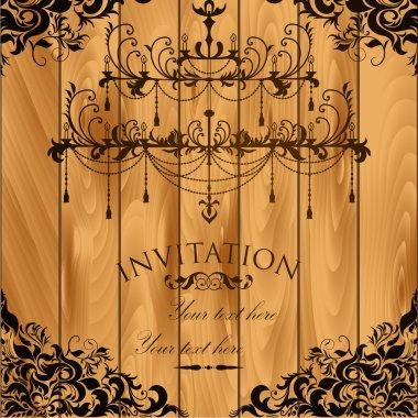 Luxury invitation with chandelier