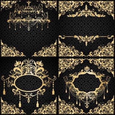 Luxury invitation setin black and gold