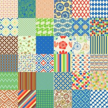 Set of seamless childish patterns