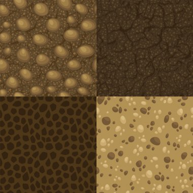 Set of vector seamless pattern for ground inside