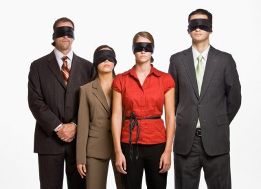 Business in blindfolds