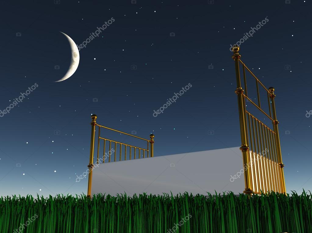 Sternenhimmel Bett bett unter dem sternenhimmel stockfoto rolffimages 18575287
