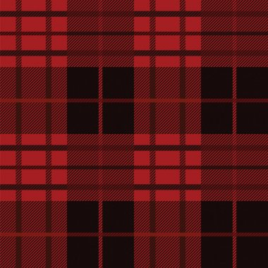 red plaid pattern.