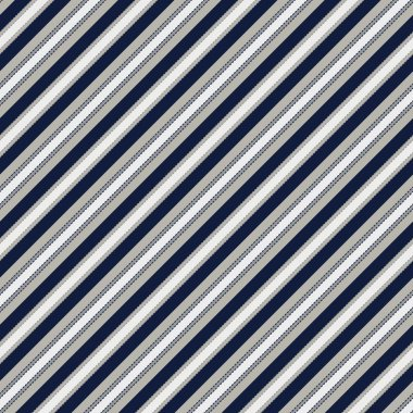 Classic striped pattern.