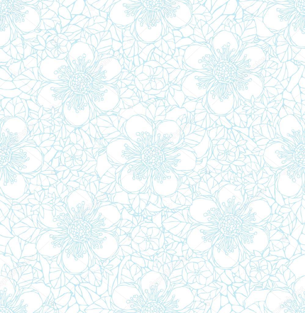 patrones sin fisuras con flores decorativas — Vector de stock ...