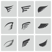 Photo Vector black wing icons set