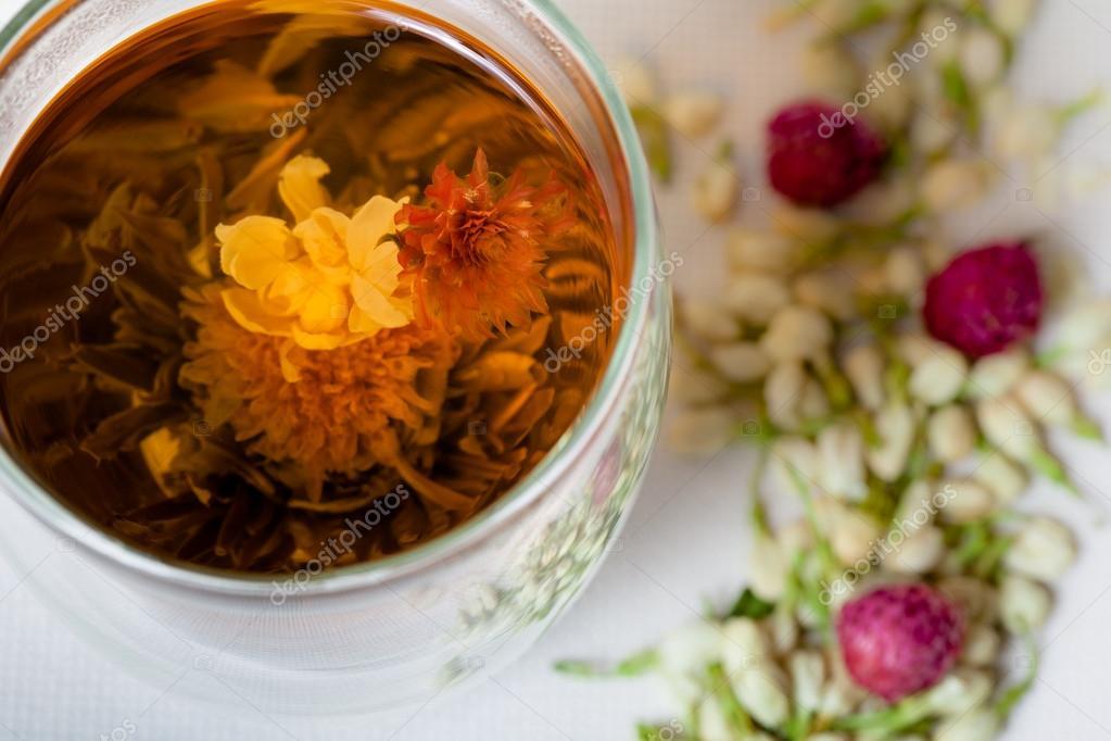 Flowering Tea and Dry Flowers