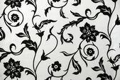 Fényképek Dekoratív tapéta, fekete-fehér virág mintával