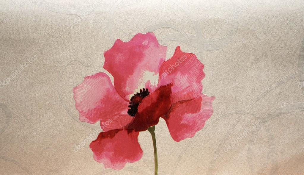 Carta Da Parati Fiori Rosa : Pattern decorativi carta da parati con fiori e foglie in rosa