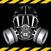 Photo Gas mask on black background