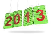 3D nový rok 2013 s značky skleněná