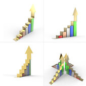 Fotografia crescita del business grafico bar