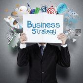 Fotografie businessman hand show book of success business