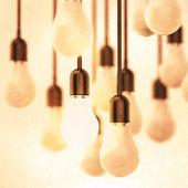 kreatív ötlet és vezetői koncepció a növekvő 3D-s villanykörte