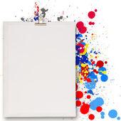 Fotografie leere Buch und Spritzwasser Farben-Wahl
