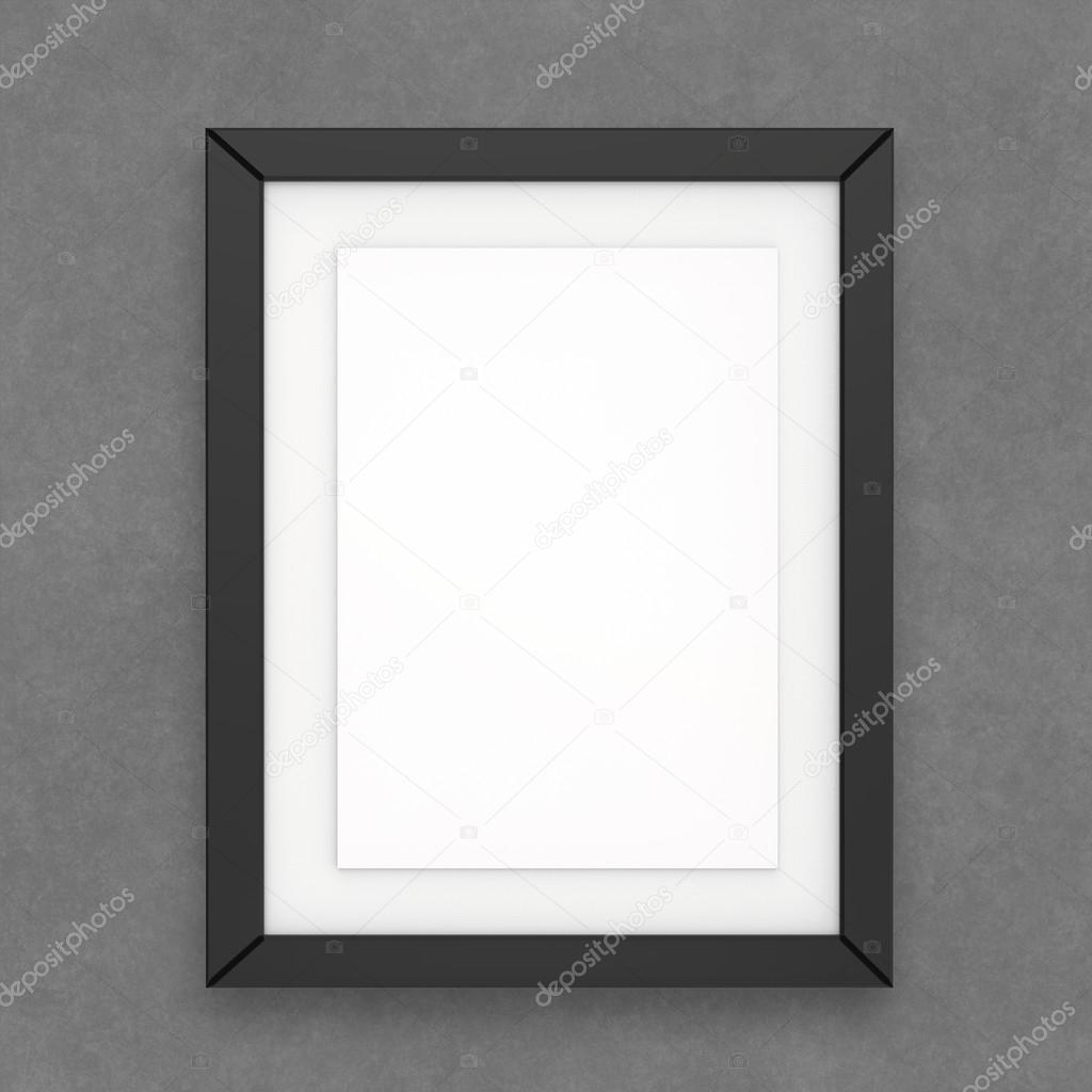 lege moderne 3D-frame op textuur achtergrond — Stockfoto ...
