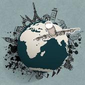 letadlo na cestách po celém světě