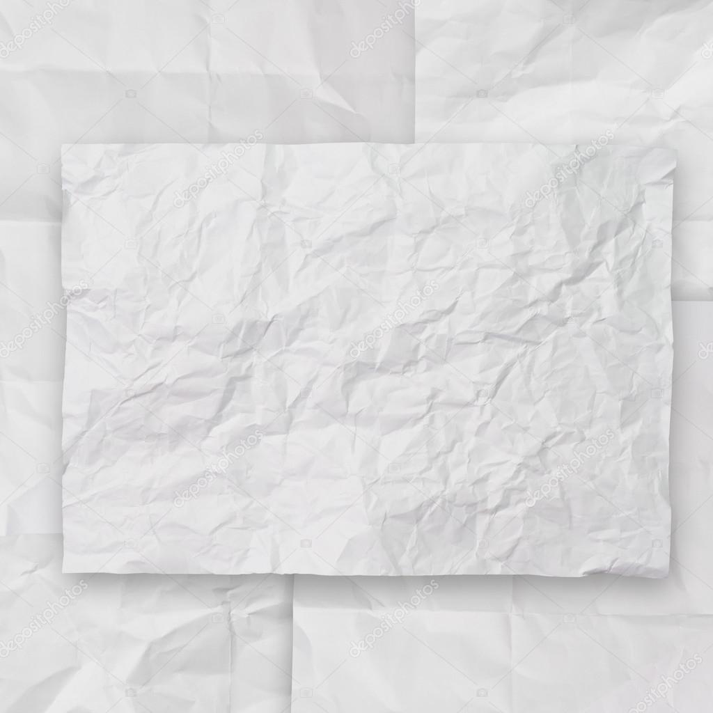 Set Di Texture Di Sfondo Bianco Carta Stropicciata Io Foto Stock