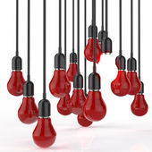 Fotografie creative idea and leadership concept light bulb