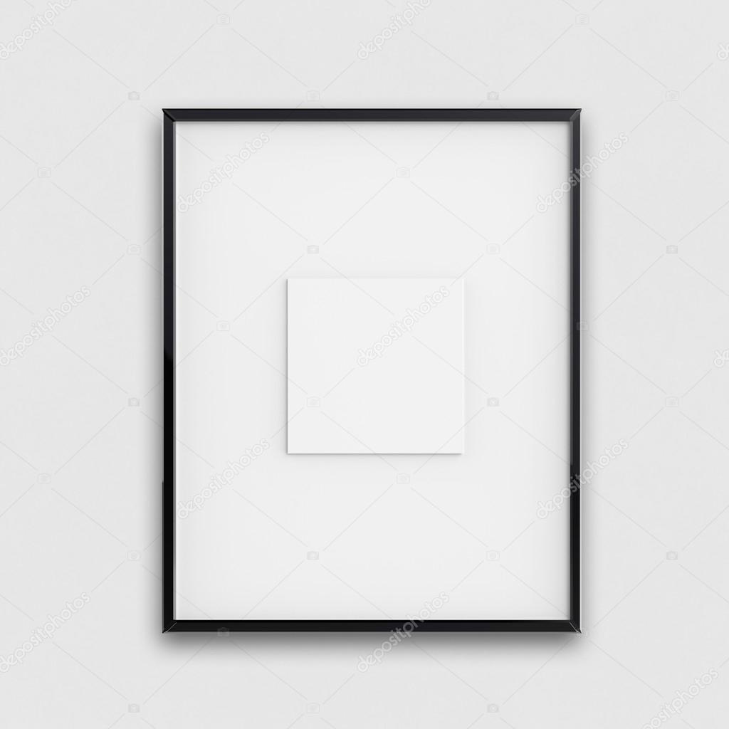 blank modern 3d frame on texture background — Stock Photo ...