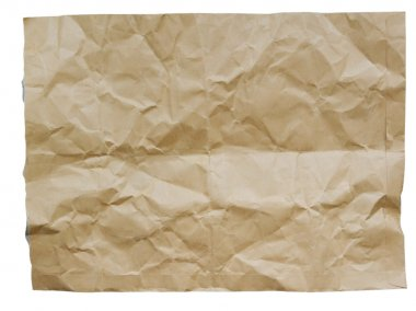 Crumpled brown envelope on white background stock vector