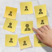 ruční tlačí sociální sítě ikonu lístku s poznámkou na zmačkaný papír