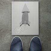 Fotografie Hand gezeichneter Pfeil Design Doodle-Symbol auf der Vorderseite des Geschäftsmannes Gebühr
