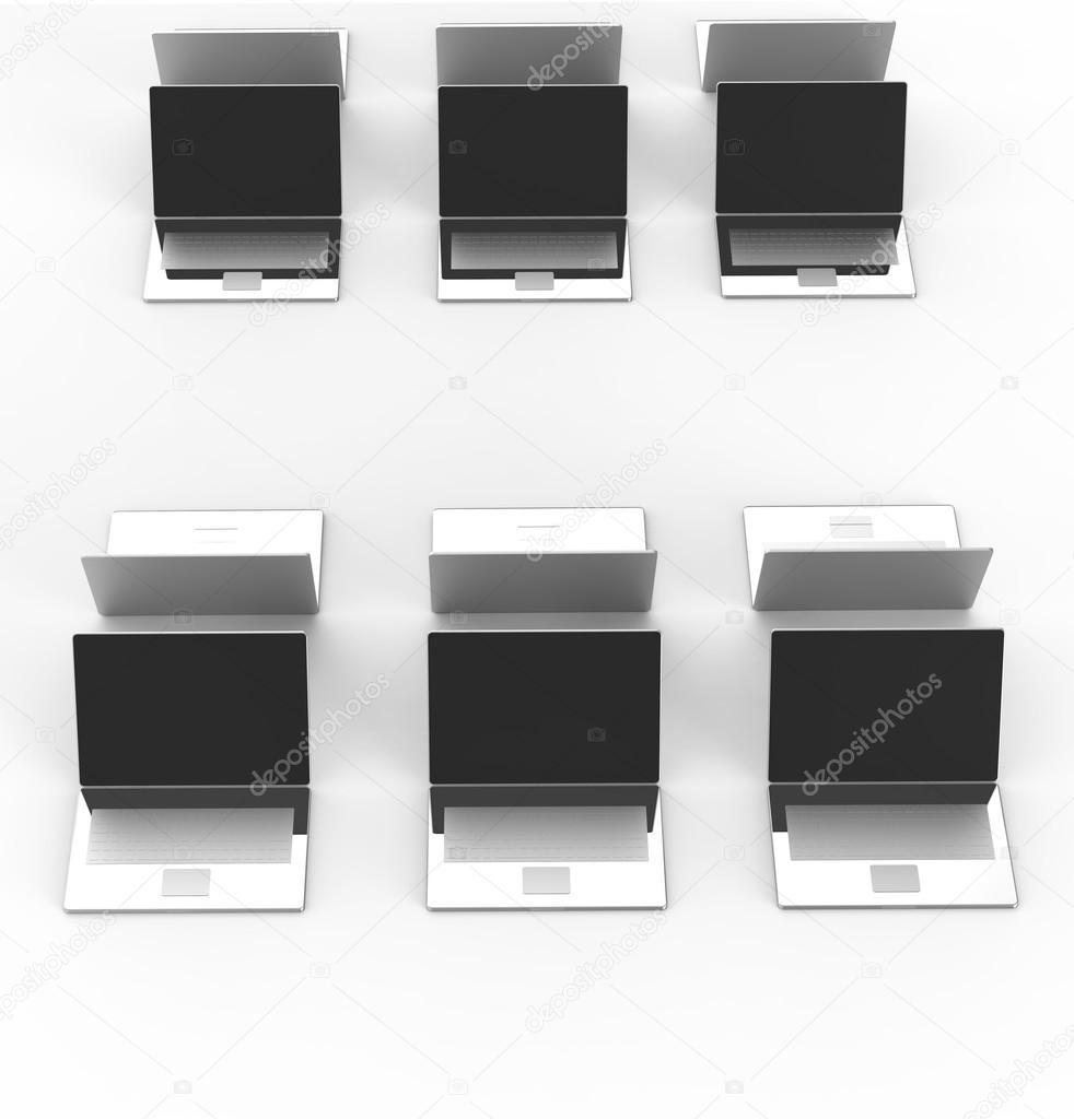 Vue de dessus de 3d réseau informatique comme concept